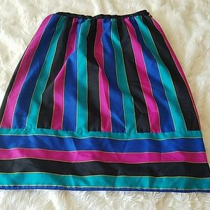 Fun 1980s colorful skirt size small/medium